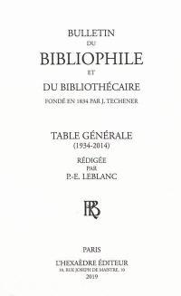 Bulletin du bibliophile et du bibliothécaire