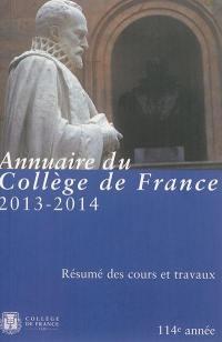 Annuaire du Collège de France 2013-2014