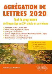 Agrégation de lettres 2020