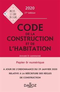 Code de la construction et de l'habitation 2020