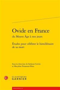 Ovide en France du Moyen Age à nos jours