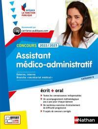 Concours assistant médico-administratif 2022-2023