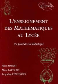 L'enseignement des mathématiques au lycée