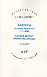 Lettres et autres documents