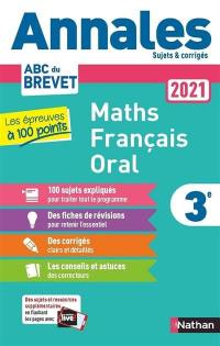 Maths, français, oral 3e