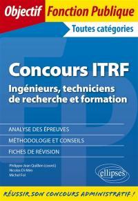 Concours ITRF (ingénieurs, techniciens de recherche et formation)