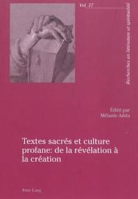Textes sacrés et culture profane
