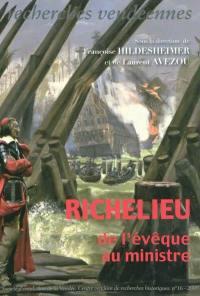 Recherches vendéennes. n° 16, Richelieu, de l'évêque au ministre