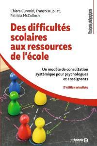 Des difficultés scolaires aux ressources de l'école