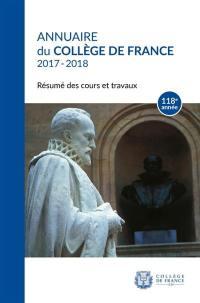 Annuaire du Collège de France 2017-2018