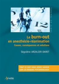 Le burn-out en anesthésie-réanimation