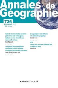 Annales de géographie. n° 726,