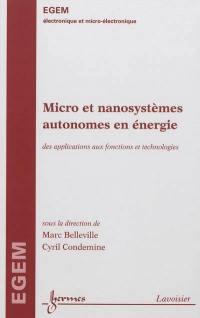 Micro et nanosystèmes autonomes en énergie