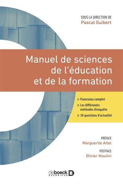 Manuel de sciences de l'éducation et de la formation