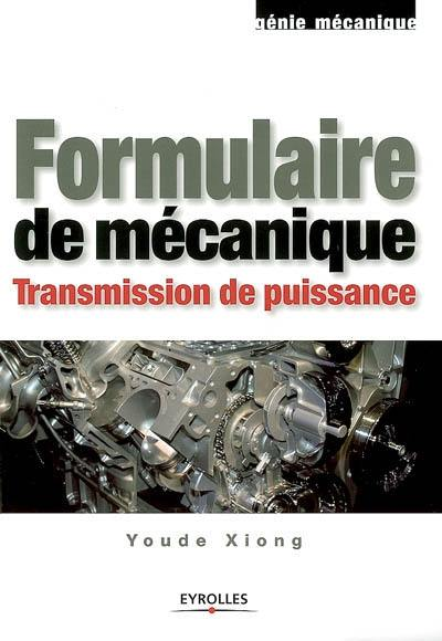 Formulaire de mécanique