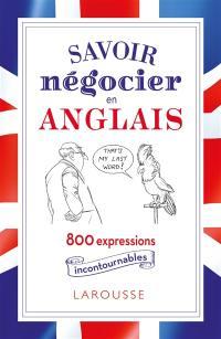 Savoir négocier en anglais