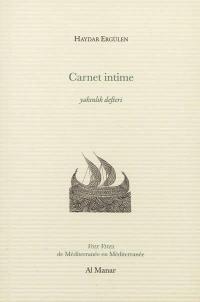 Carnet intime = Yakinlik defteri