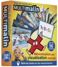 Multimalin, tables de multiplication : mémorisation par visualisation mentale : jeu de 56 cartes