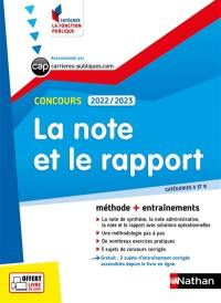 La note et le rapport, concours 2022-2023
