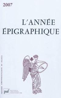 Année épigraphique (L'). n° 2007,