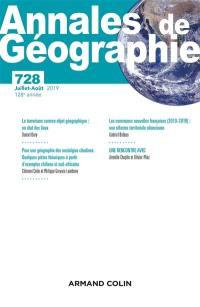 Annales de géographie. n° 728,