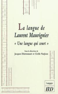 La langue de Laurent Mauvignier