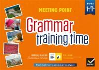 Meeting point, grammar training time, 1re, terminale, B1-B2