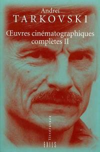 Oeuvres cinématographiques complètes. Volume 2,
