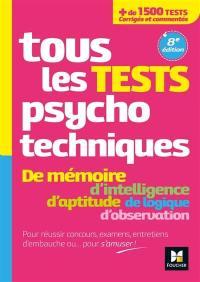 Tous les tests psychotechniques