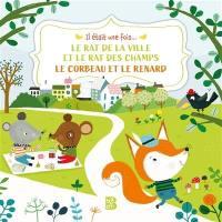 Le rat de ville et le rat des champs. Le corbeau et le renard