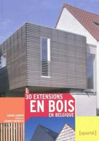 30 extensions en bois en Belgique