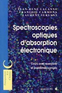 Spectroscopies optiques d'absorption électronique