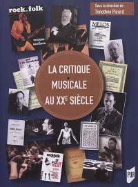 La critique musicale au XXe siècle