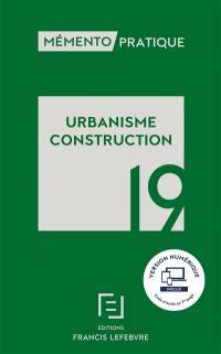 Urbanisme, construction 2019