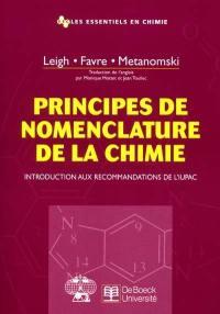 Principes de nomenclature de la chimie