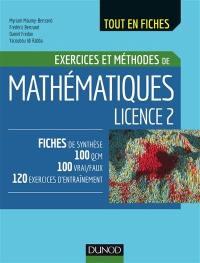 Exercices et méthodes de mathématiques licence 2