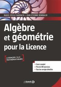 Algèbre et géométrie pour la licence