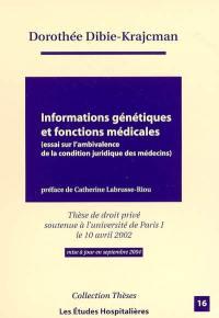 Informations génétiques et fonctions médicales