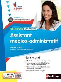 Concours assistant médico-administratif 2019-2020