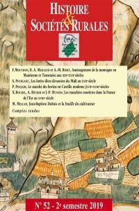 Histoire & sociétés rurales. n° 52,