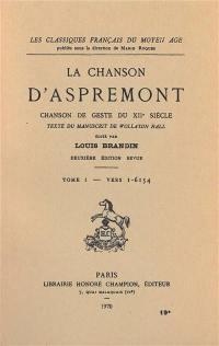 La chanson d'Aspremont. Volume 1, Vers 1-6154