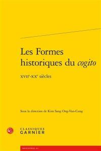Les formes historiques du cogito
