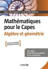 Mathématiques pour le Capes, Algèbre et géométrie