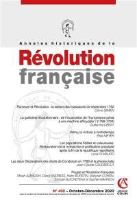 Annales historiques de la Révolution française. n° 402,