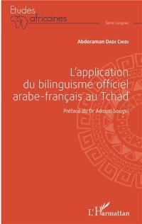 L'application du bilinguisme officiel arabe-français au Tchad