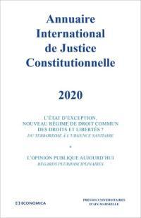 Annuaire international de justice constitutionnelle. Vol. 36. 2020