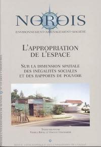 Norois. n° 195, L'appropriation de l'espace