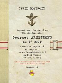 Rapport sur l'activité du médecin-capitaine Georges Armstrong du 3e BCCP