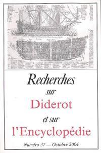 Recherches sur Diderot et sur l'Encyclopédie. n° 37, Préface de la Cyclopaedia