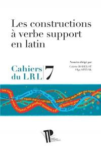Les constructions à verbe support en latin